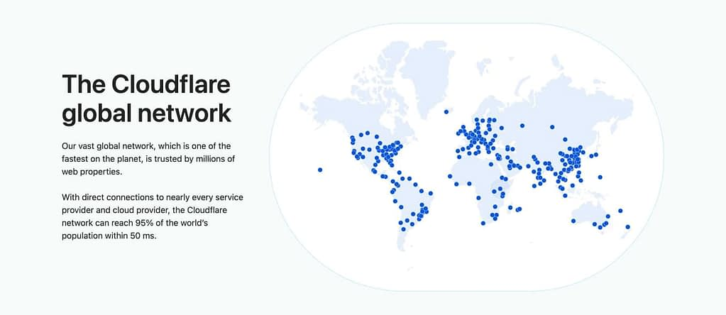 Cloudflare's global network of servers