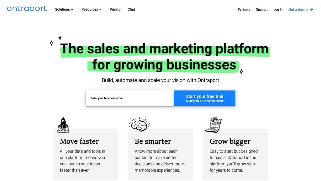 Ontraport's Homepage