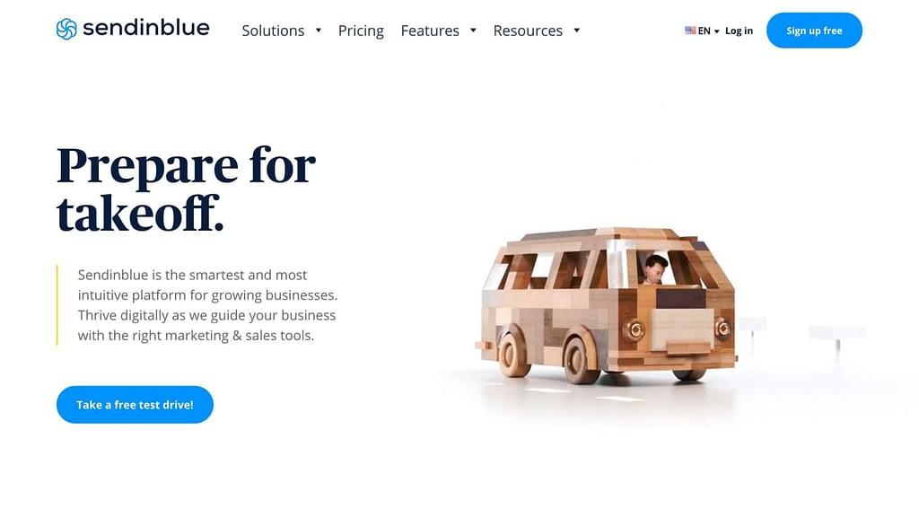 Sendinblue's Homepage