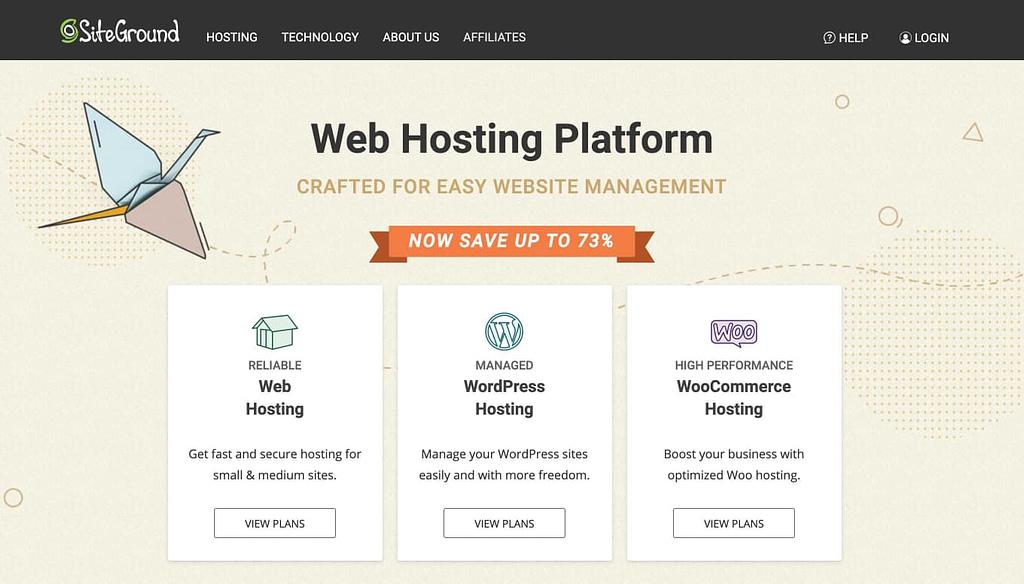 Siteground.com Homepage