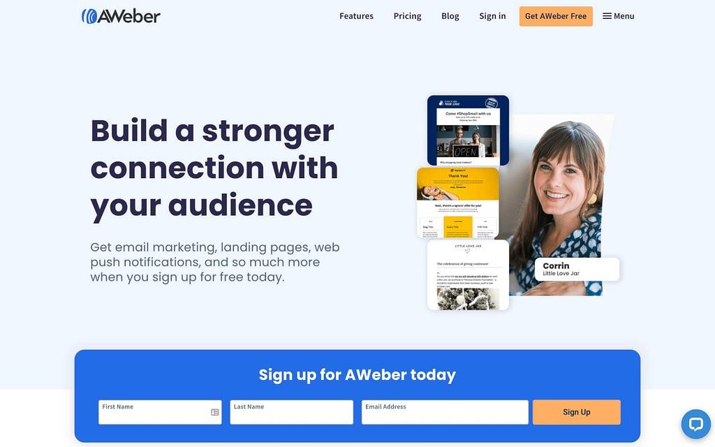 AWeber's Homepage
