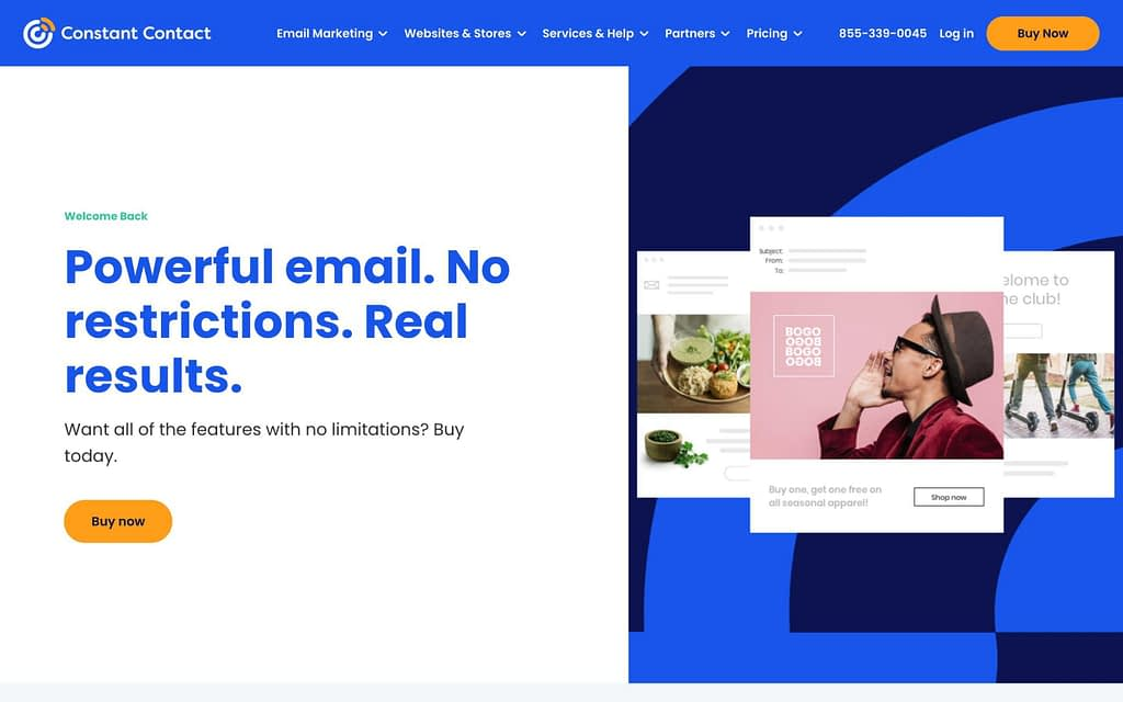 Constant Contact's Homepage