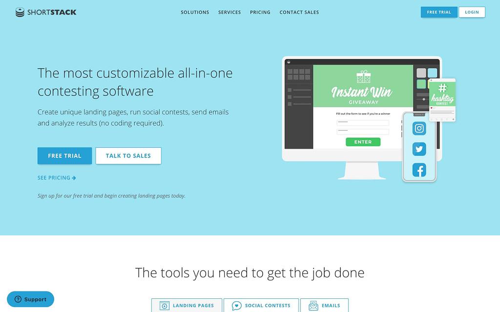 ShortStack' Homepage