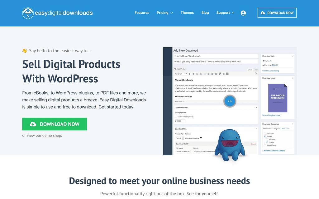 Easy Digital Download's Homepage