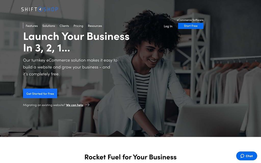 Shift4Shop's Homepage