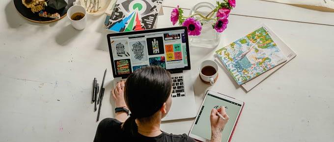 Brand designer at work
